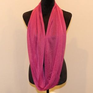 Pretty Shimmering Cranberry Colored Scarf/Shawl